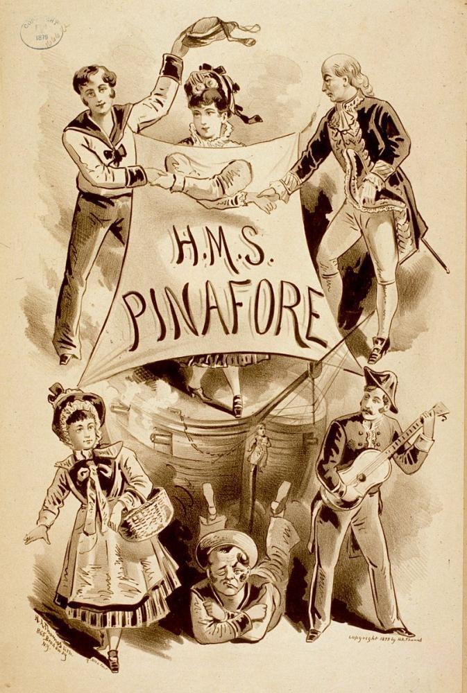 H.M.S. Pinafore Opera Poster, Opera, Theater, Poster Satış, all posters, kanvas tablo, canvas print sales