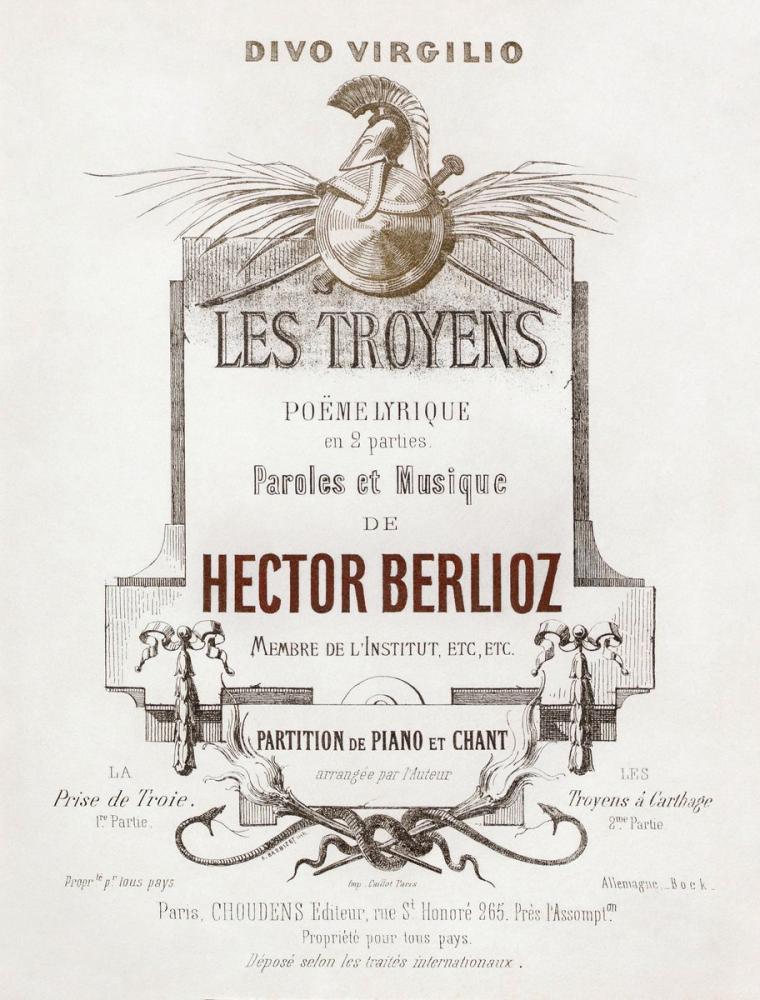 Hector Berlioz, Les Troyens Poster, Opera, Theater, Poster Satış, all posters, kanvas tablo, canvas print sales