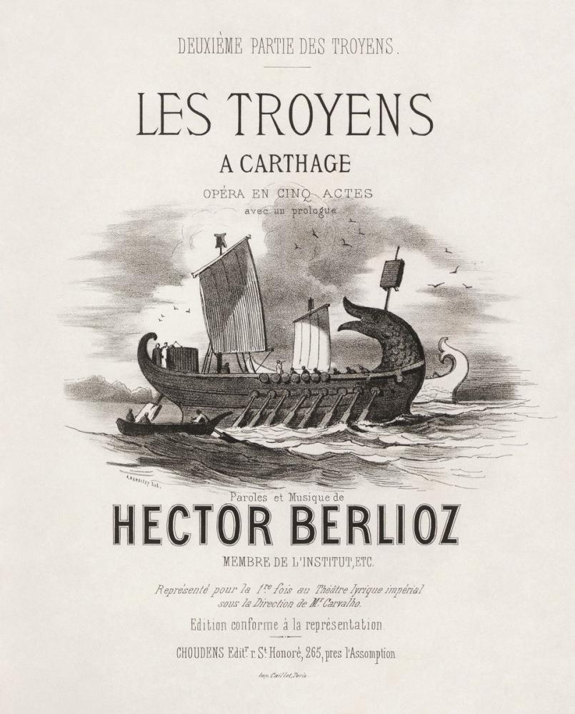 Hector Berlioz, Les Troyens à Carthage Posteri, Opera, Tiyatro, Poster Satış, all posters, kanvas tablo, canvas print sales