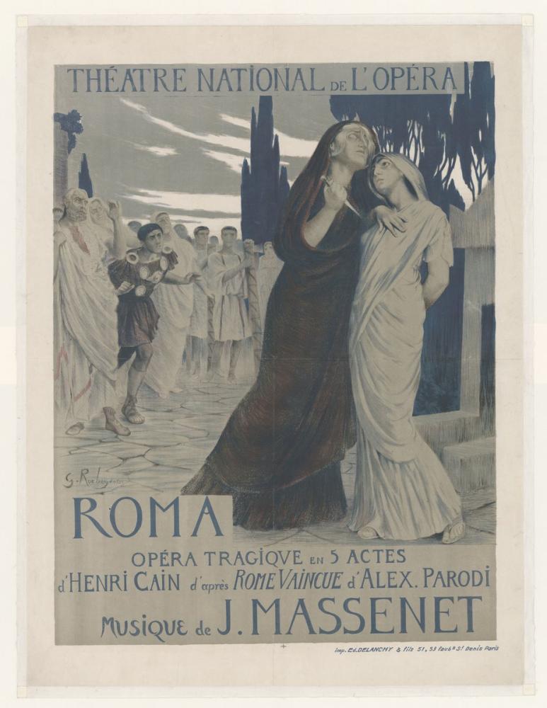 Jules Massenet, Roma Poster, Opera, Theater, Poster Satış, all posters, kanvas tablo, canvas print sales