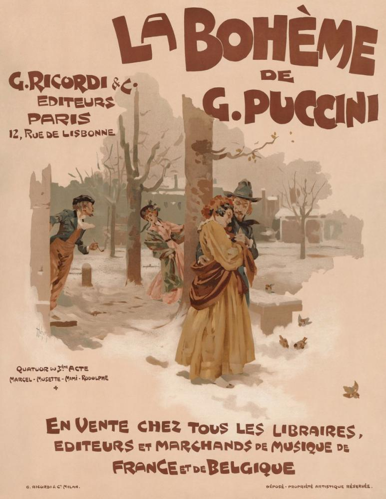 La Boheme 7 Poster, Opera, Theater, Poster Satış, all posters, kanvas tablo, canvas print sales