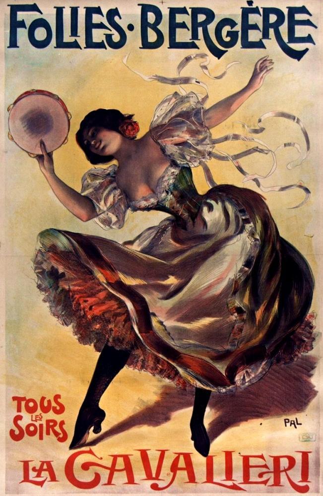 La Cavallieri, Folies Bergère Poster, Opera, Theater, Poster Satış, all posters, kanvas tablo, canvas print sales