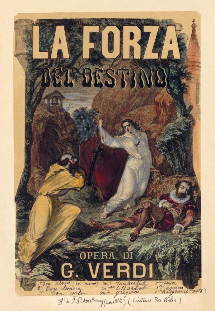 La Forza del Destino Opera Poster, Opera, Theater, Poster Satış, all posters, kanvas tablo, canvas print sales