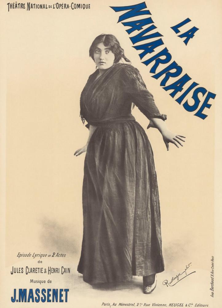 La Navarraise Opera Poster, Opera, Theater, Poster Satış, all posters, kanvas tablo, canvas print sales