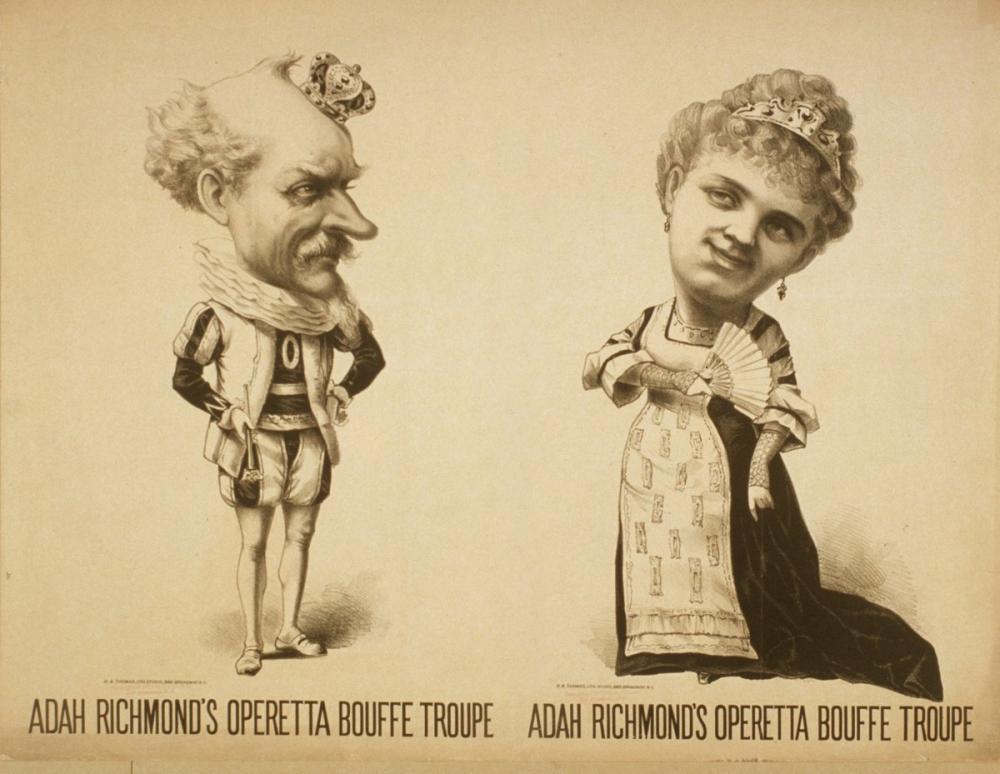 Adah Richmond s Operetta Bouffe Troupe Opera Poster, Opera, Theater, Poster Satış, all posters, kanvas tablo, canvas print sales