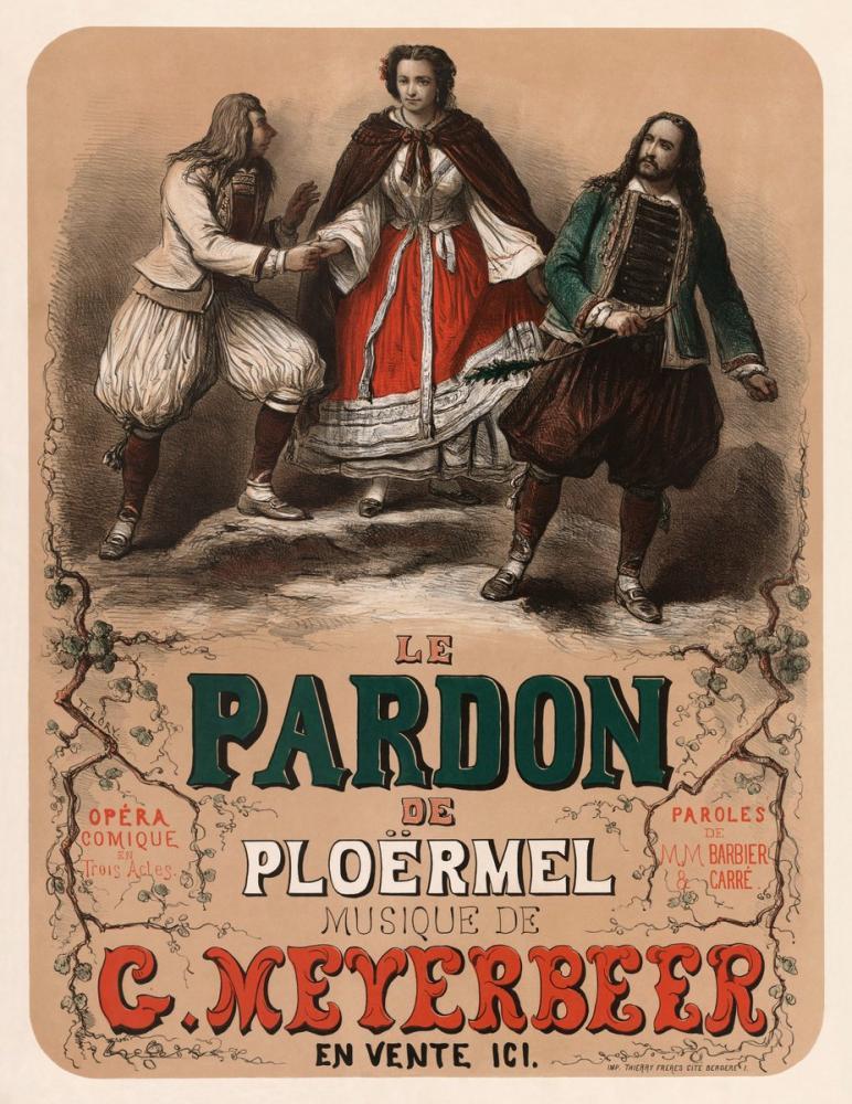 Le pardon de Ploërmel 1859 Opera Posteri, Opera, Tiyatro, Poster Satış, all posters, kanvas tablo, canvas print sales