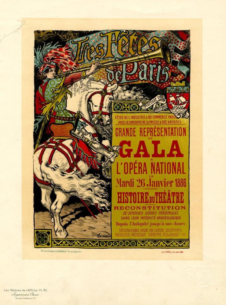 Les fêtes de Paris Opera Posteri, Opera, Tiyatro, Poster Satış, all posters, kanvas tablo, canvas print sales
