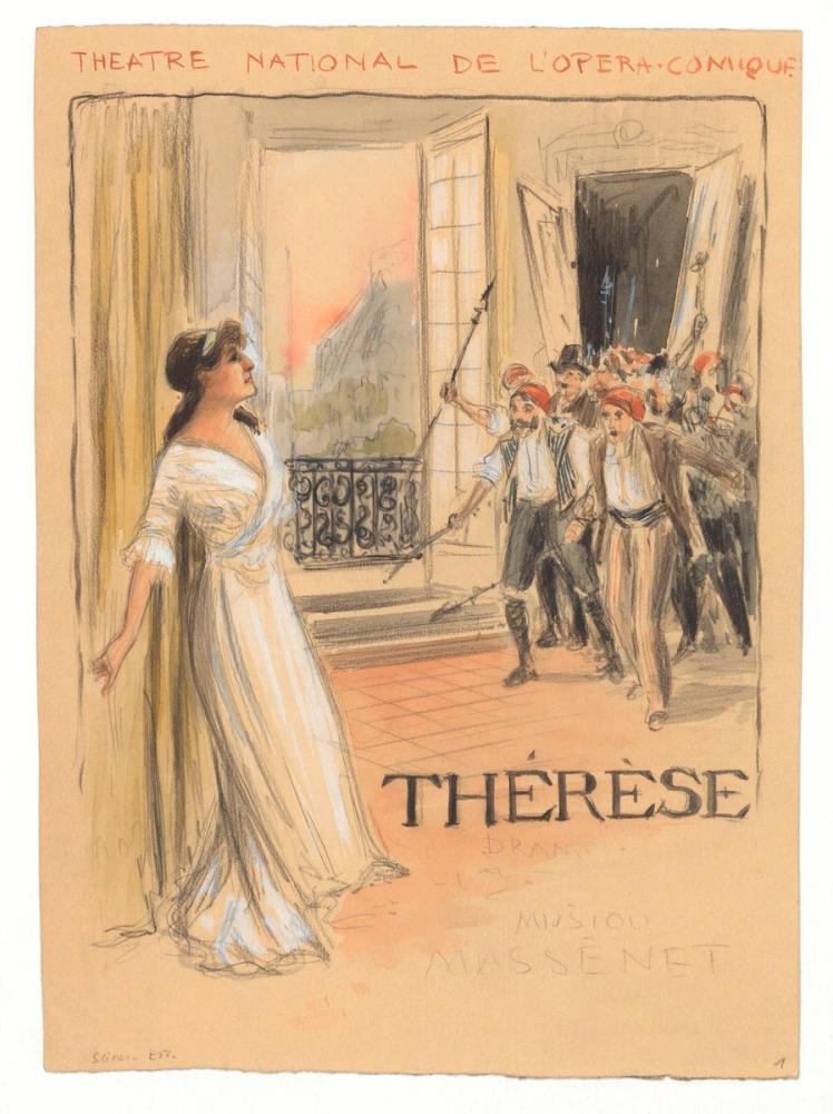 Lucy Arbell in Massenet s Thérèse Opera Poster, Opera, Theater, Poster Satış, all posters, kanvas tablo, canvas print sales