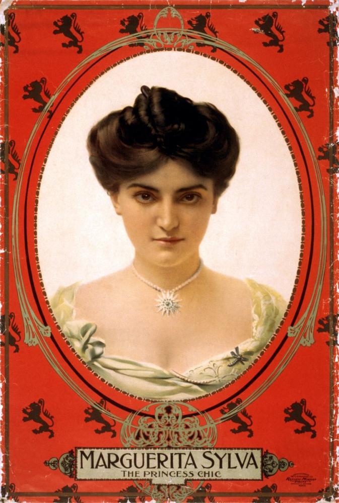 Marguerita Sylva, the Princess Chic Poster, Opera, Theater, Poster Satış, all posters, kanvas tablo, canvas print sales