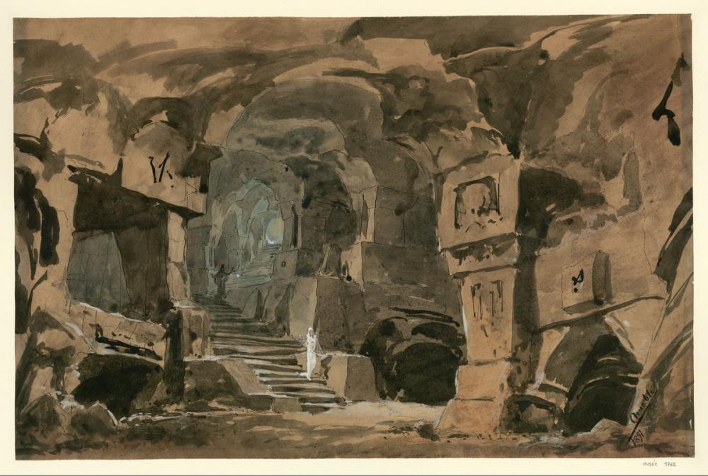 Massenet   Amable 1891 Le Mage acte 2 esquisse de décor Poster, Opera, Theater, Poster Satış, all posters, kanvas tablo, canvas print sales