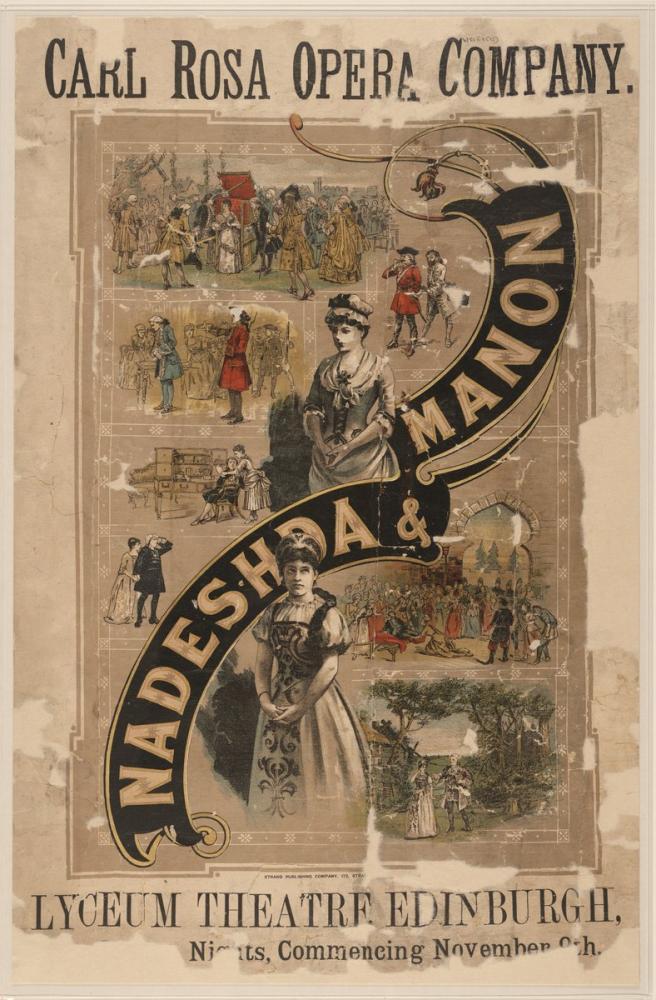 Nadeshda and Manon Opera Poster, Opera, Theater, Poster Satış, all posters, kanvas tablo, canvas print sales
