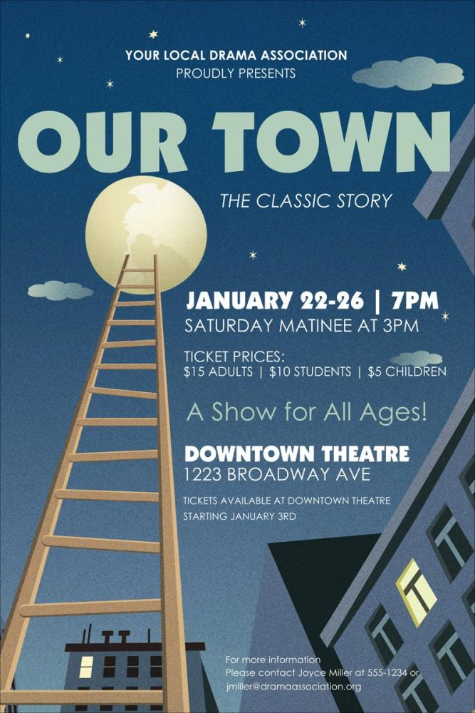 Our Town Theater Poster, Opera, Theater, Poster Satış, all posters, kanvas tablo, canvas print sales