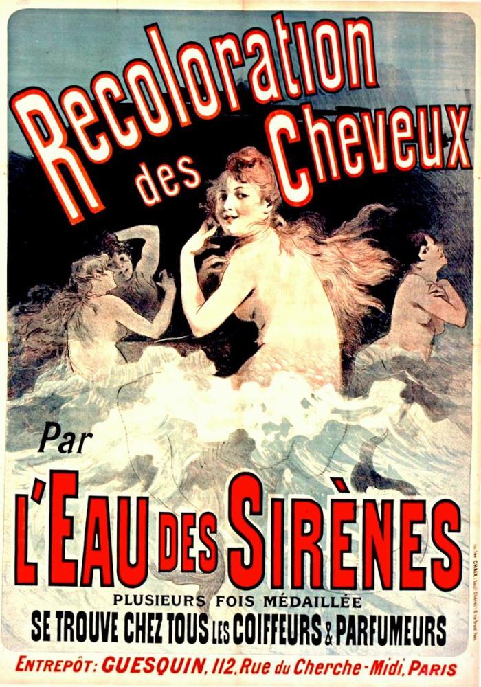 Recoloration des Cheveux par l Eau des Sirènes Posteri, Opera, Tiyatro, Poster Satış, all posters, kanvas tablo, canvas print sales