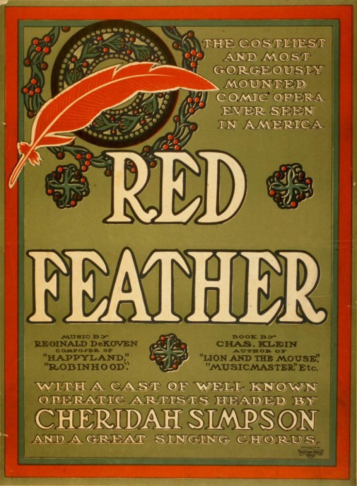 Red Feather Opera Poster, Opera, Theater, Poster Satış, all posters, kanvas tablo, canvas print sales