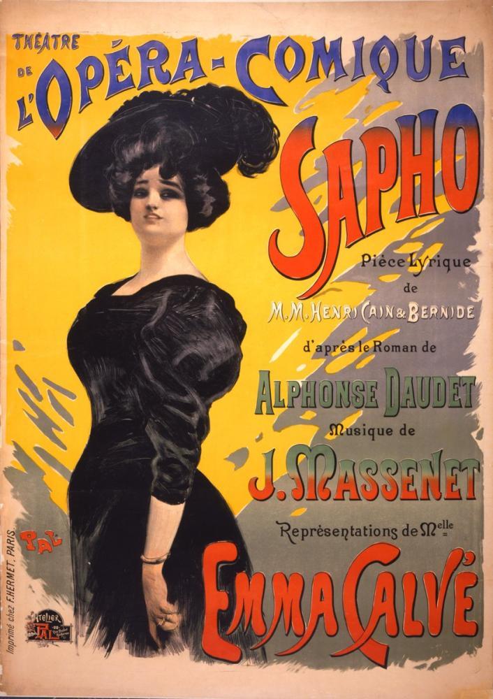 Sapho Opera  Posteri, Opera, Tiyatro, Poster Satış, all posters, kanvas tablo, canvas print sales