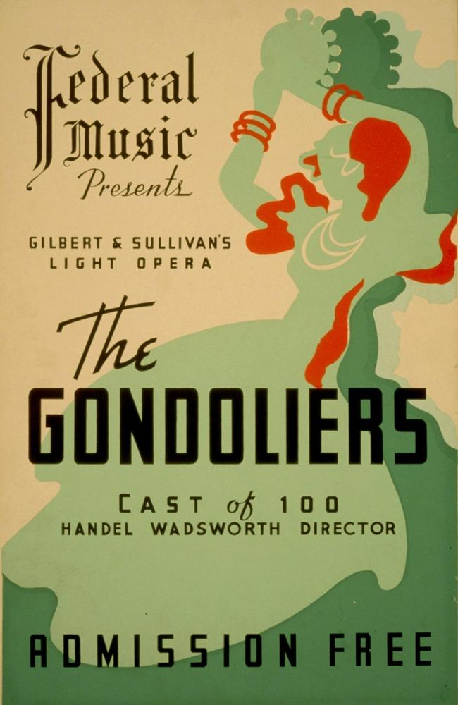 The Gondoliers Poster, Opera, Theater, Poster Satış, all posters, kanvas tablo, canvas print sales