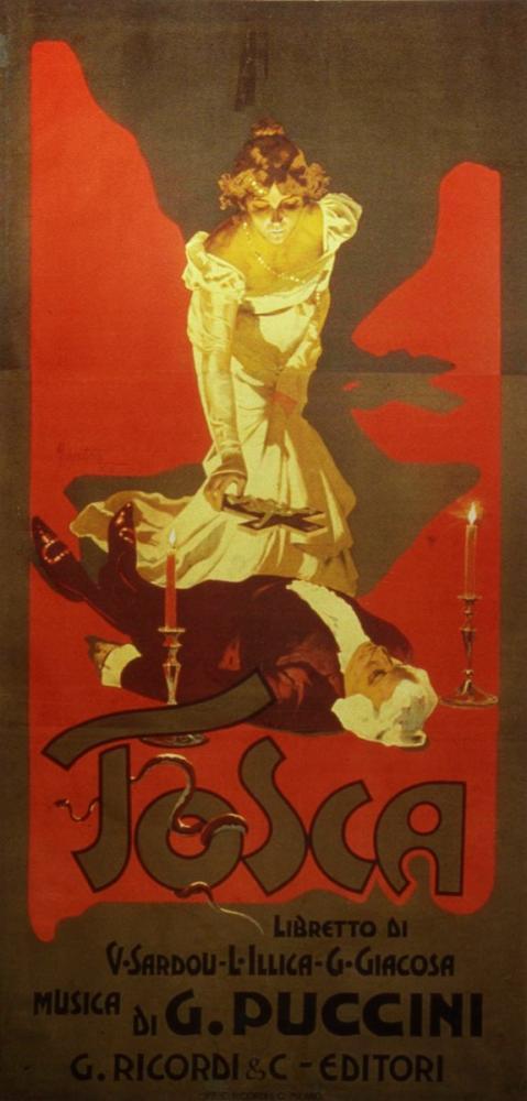 Tosca 1899 Opera Poster, Opera, Theater, Poster Satış, all posters, kanvas tablo, canvas print sales