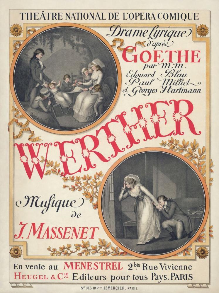 Werther Opera Poster, Opera, Theater, Poster Satış, all posters, kanvas tablo, canvas print sales