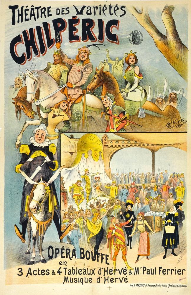 Chilpéric Opera Poster, Opera, Theater, Poster Satış, all posters, kanvas tablo, canvas print sales