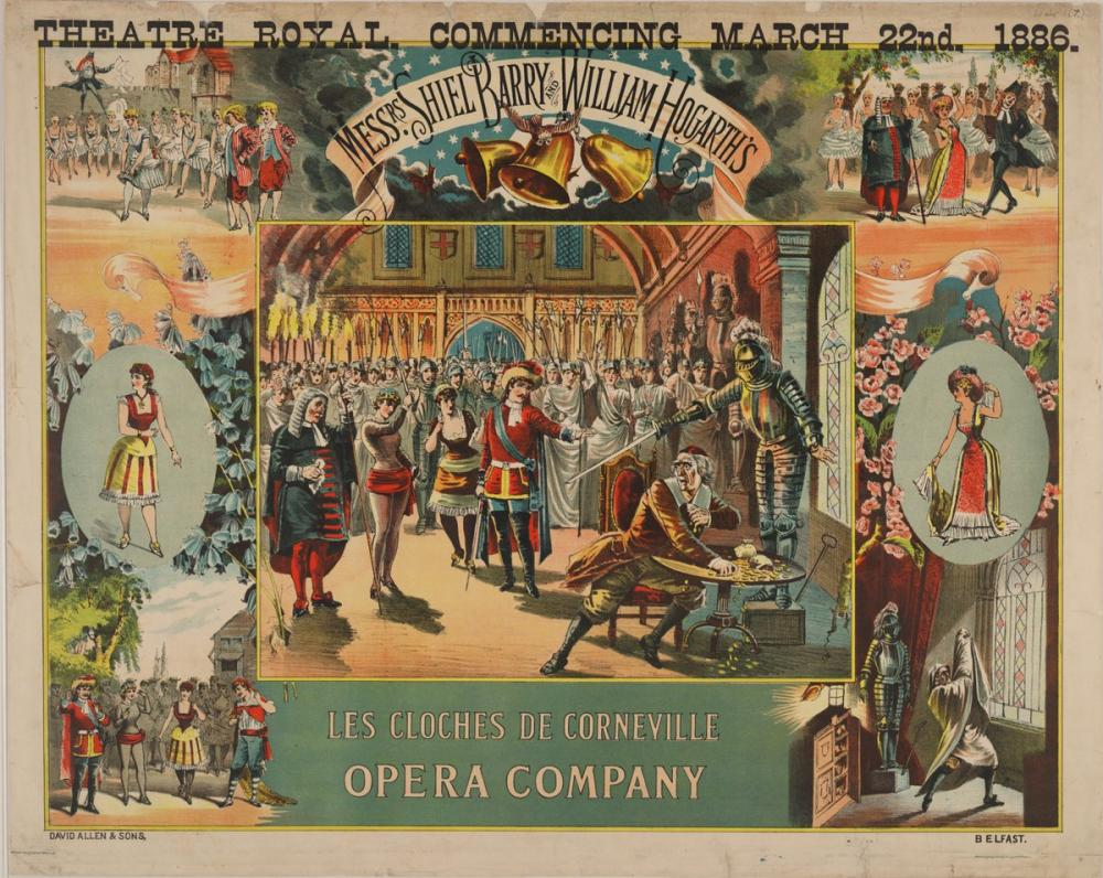 Les cloches de Corneville Opera Poster, Opera, Theater, Poster Satış, all posters, kanvas tablo, canvas print sales