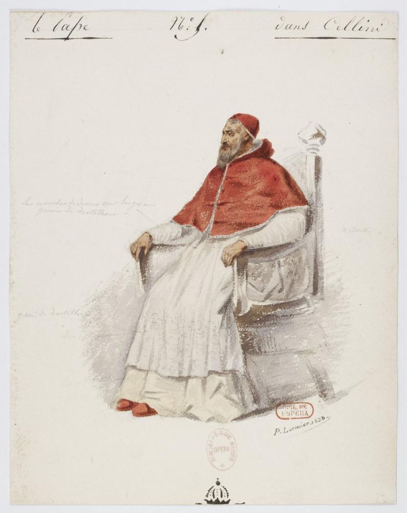 Costumes for Hector Berlioz's Benvenuto Cellini  No 5. Le pape Opera Poster, Opera, Theater, Poster Satış, all posters
