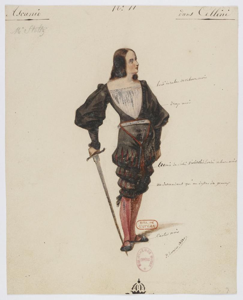 Costumes for Hector Berlioz's Benvenuto Cellini No 11 Ascanio Opera Poster, Opera, Theater, Poster Satış, all posters