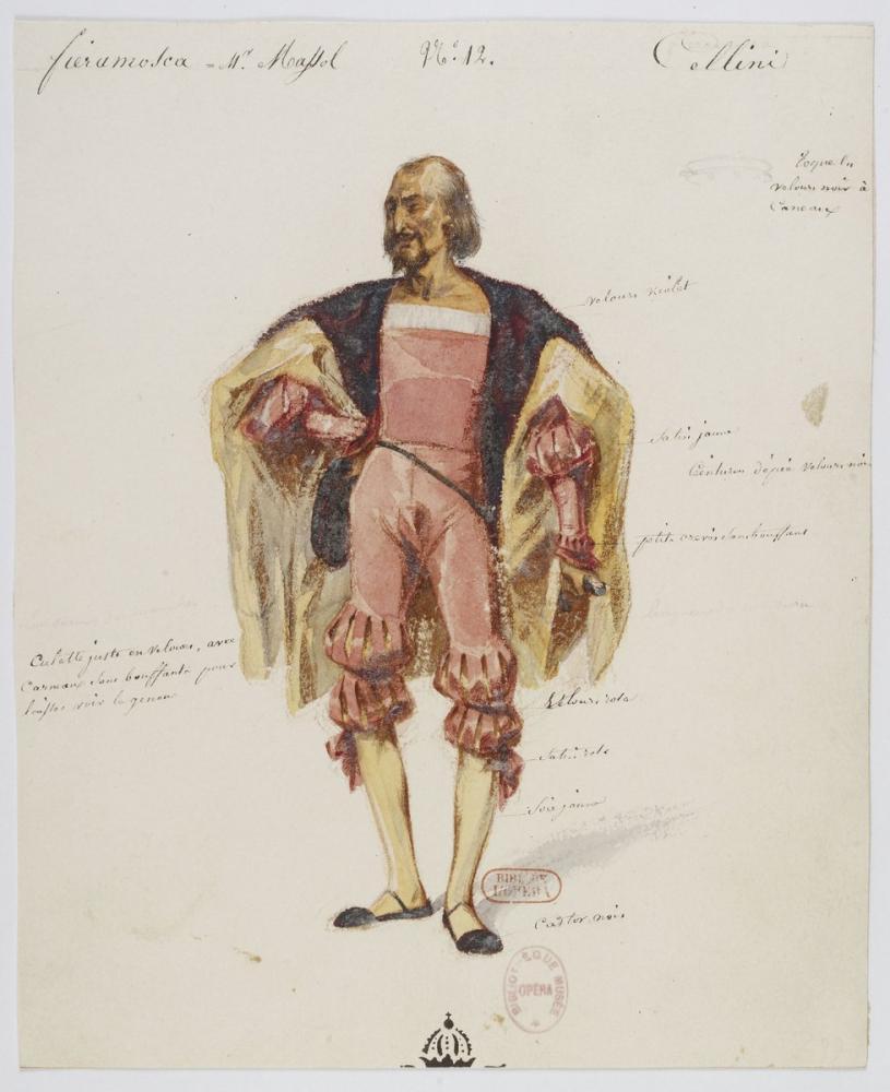 Costumes for Hector Berlioz's Benvenuto Cellini No 12 Fieramosca Opera Poster, Opera, Theater, Poster Satış, all posters