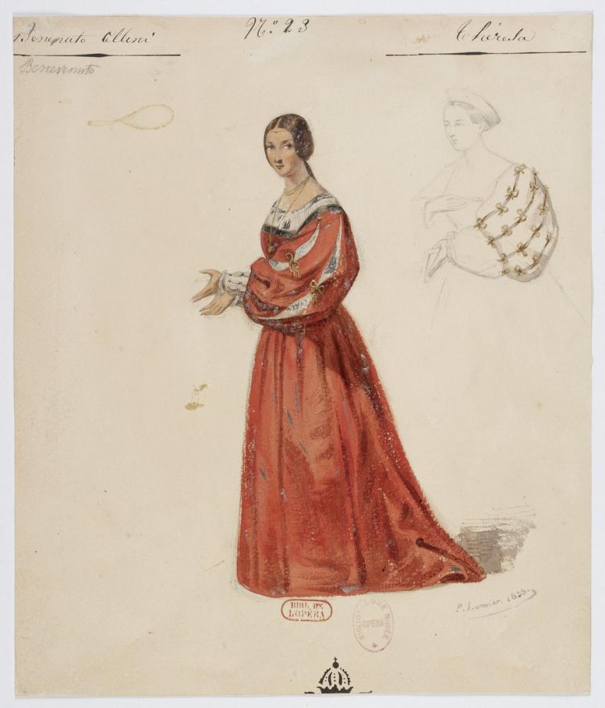 Costumes for Hector Berlioz's Benvenuto Cellini No 23 Théresa Opera Poster, Opera, Theater, Poster Satış, all posters