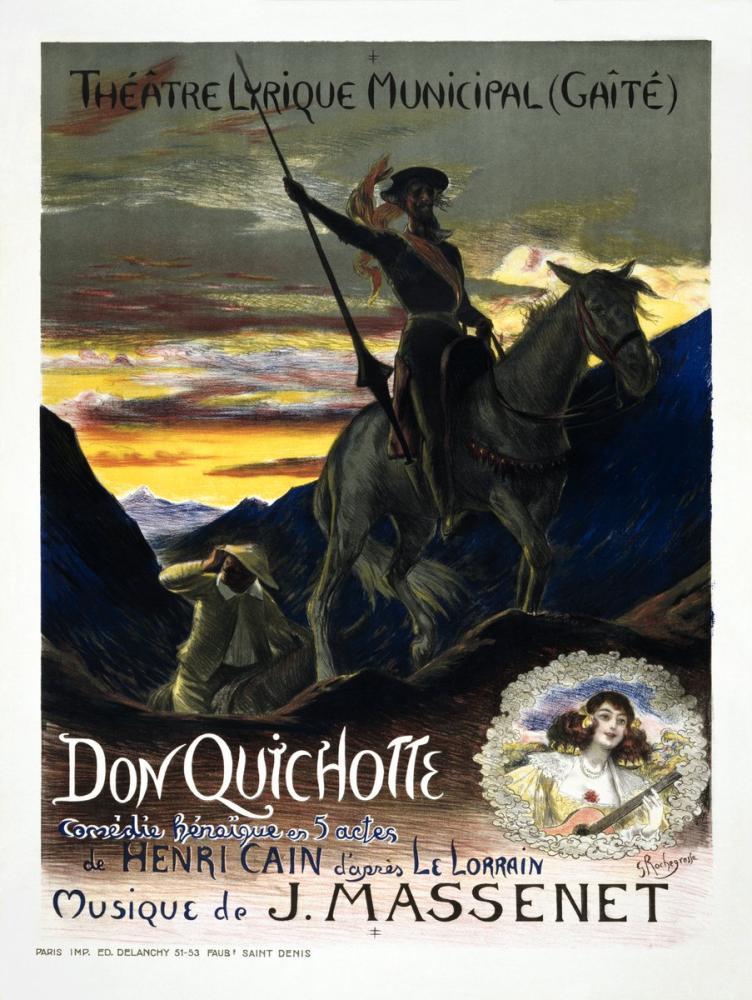 Don Quichotte Opera Posteri, Opera, Tiyatro, Poster Satış, all posters, kanvas tablo, canvas print sales