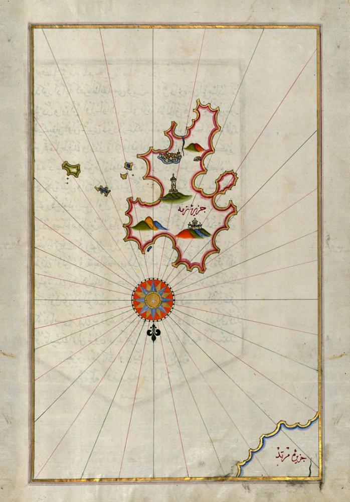 Piri Reis Kythnos Island Map Poster, Piri Reis, Poster Satış, all posters, kanvas tablo, canvas print sales