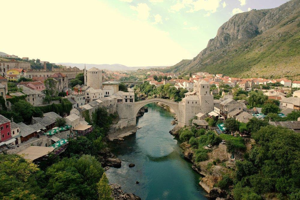 Mostar Old Town Poster, Landscape, Poster Satış, all posters, kanvas tablo, canvas print sales