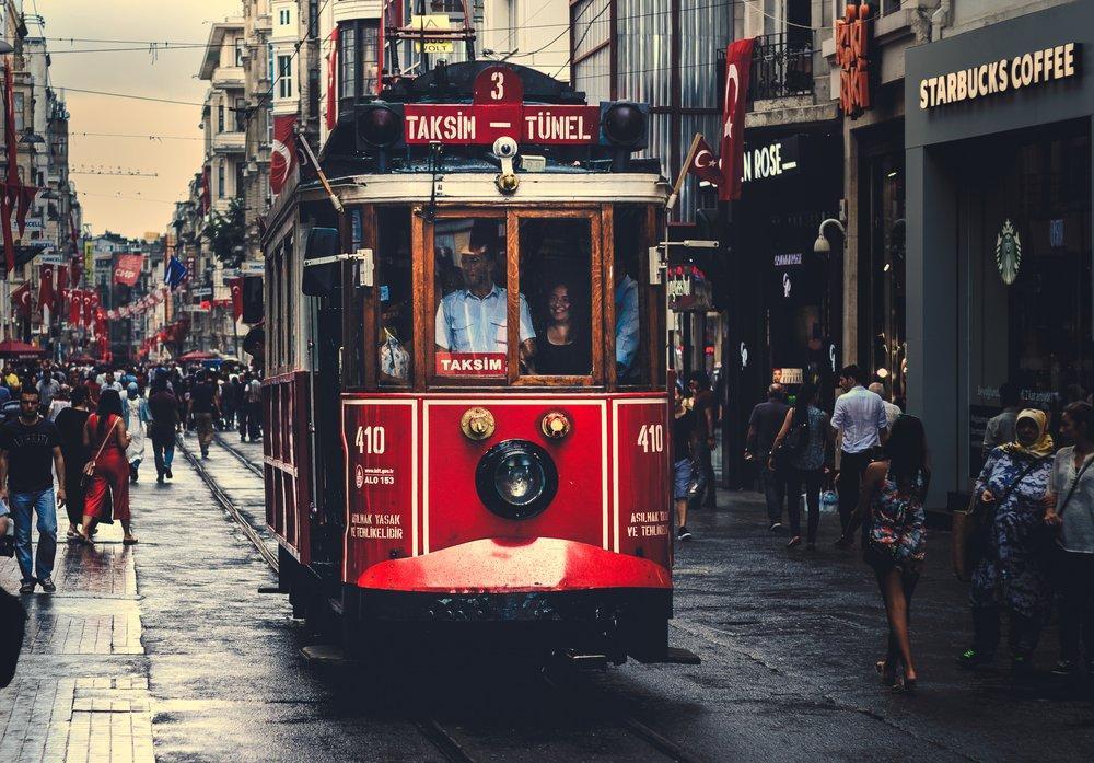 Nostalgic Tram Station Taksim Poster, Landscape, Poster Satış, all posters, kanvas tablo, canvas print sales
