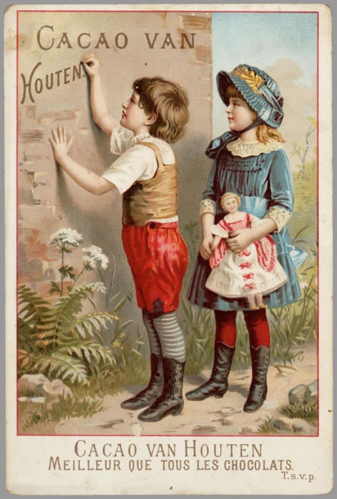 Cacao Van Houten Vintage Poster 2, Vintage, Poster Satış, all posters, kanvas tablo, canvas print sales
