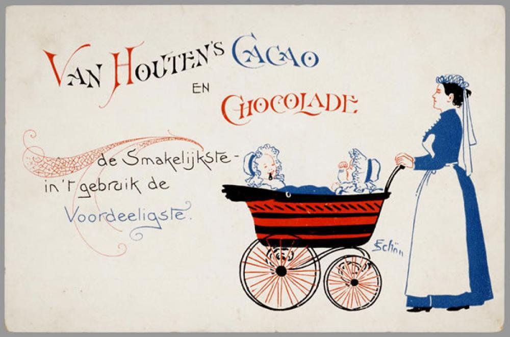 Van Houten s Cacao en Chocolate Poster, Vintage, Poster Satış, all posters, kanvas tablo, canvas print sales