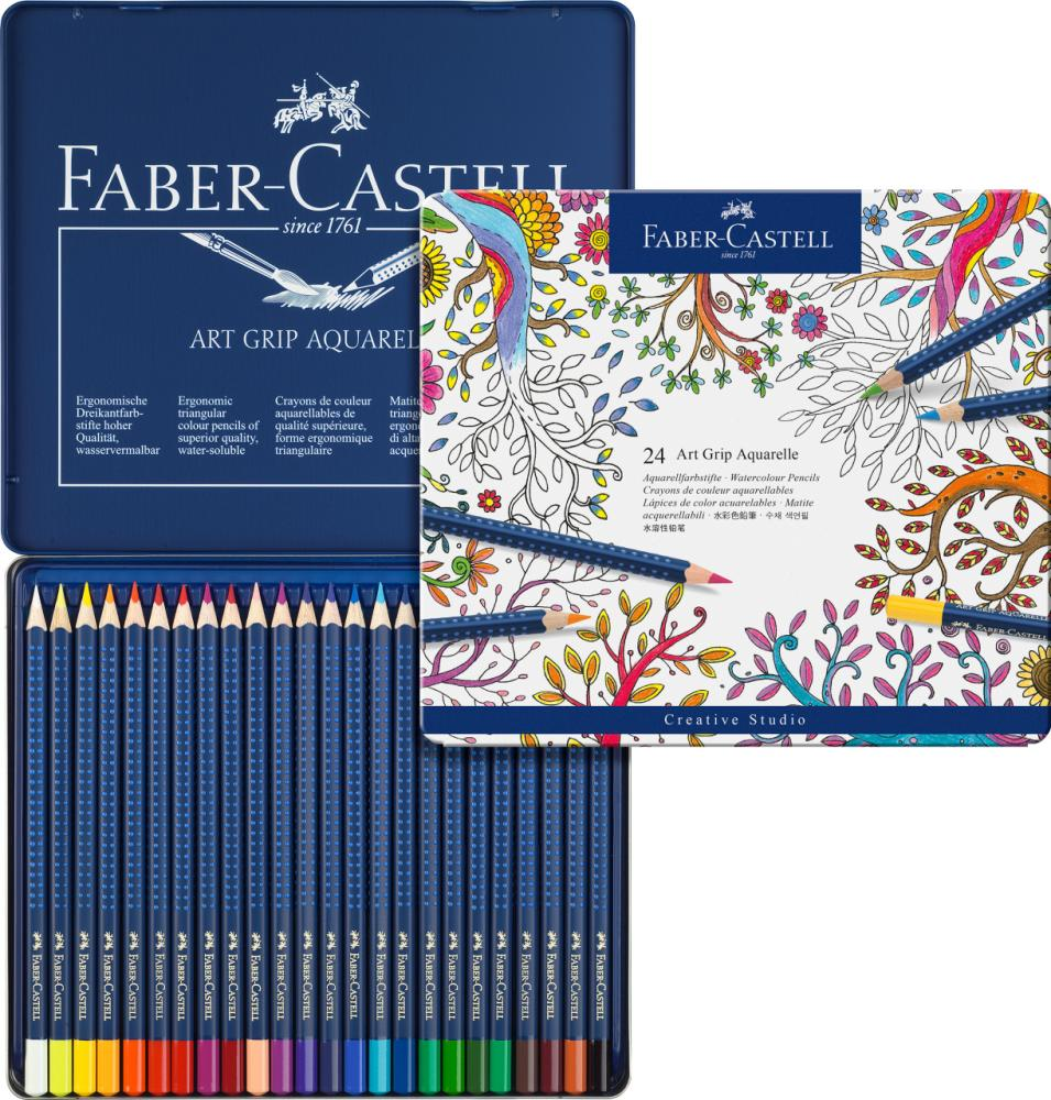 Faber Castell Art Grip Aquarelle Sulu Boya Kalemi,24 Renk, Boya Kalemleri, Marka: Faber Castell, kanvas tablo, canvas print sales