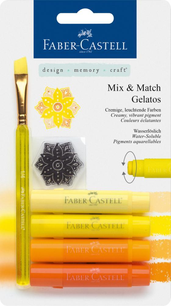 Watersoluble crayon Gelatos yellow 6ct set, Painting Materials, Marka: Faber Castell, kanvas tablo, canvas print sales