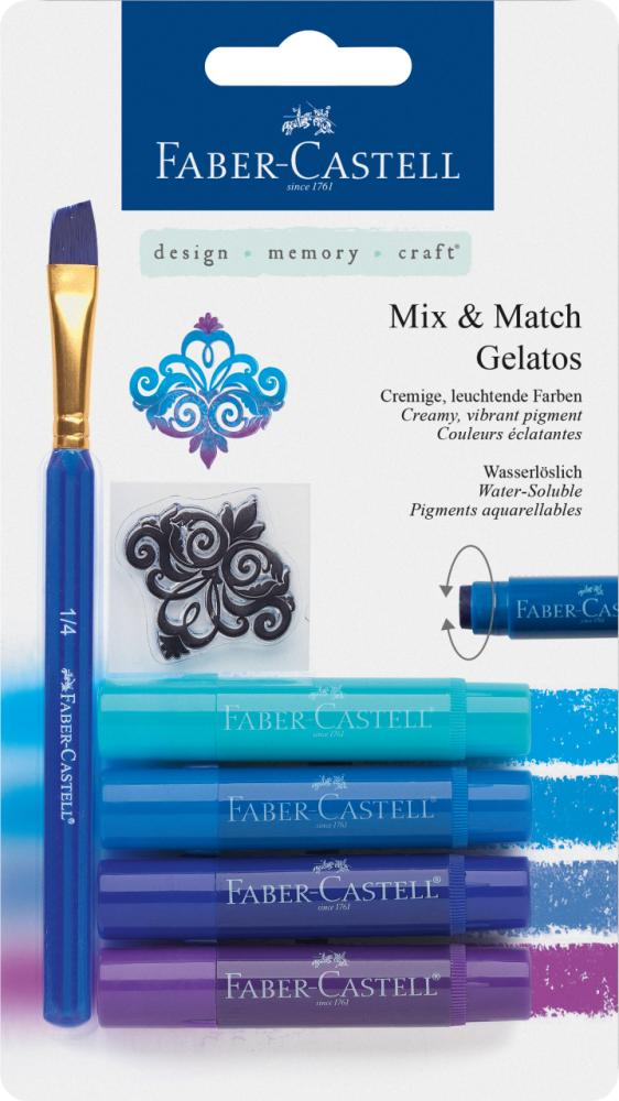 Watersoluble crayon Gelatos Blue 6ct set, Painting Materials, Marka: Faber Castell, kanvas tablo, canvas print sales