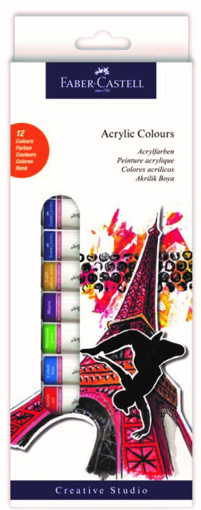 Faber Castell Acrylic Tube Paint, 12 Colors, Acrylic Paint, Marka: Faber Castell, kanvas tablo, canvas print sales