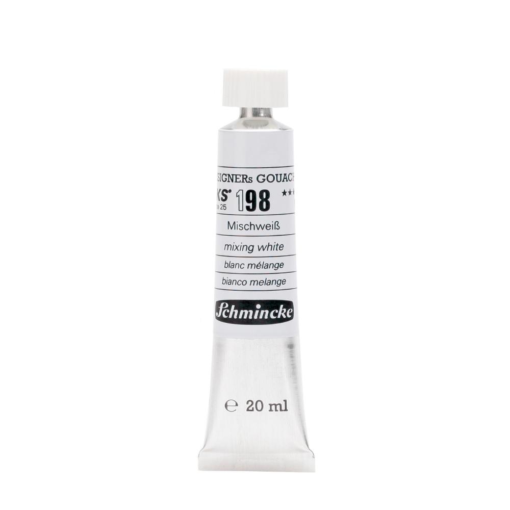 Schmincke HKS Designers Gouache Mixing White 198 - 20 ml Guaj Boya, Guaj Boya, Schmincke, kanvas tablo, canvas print sales