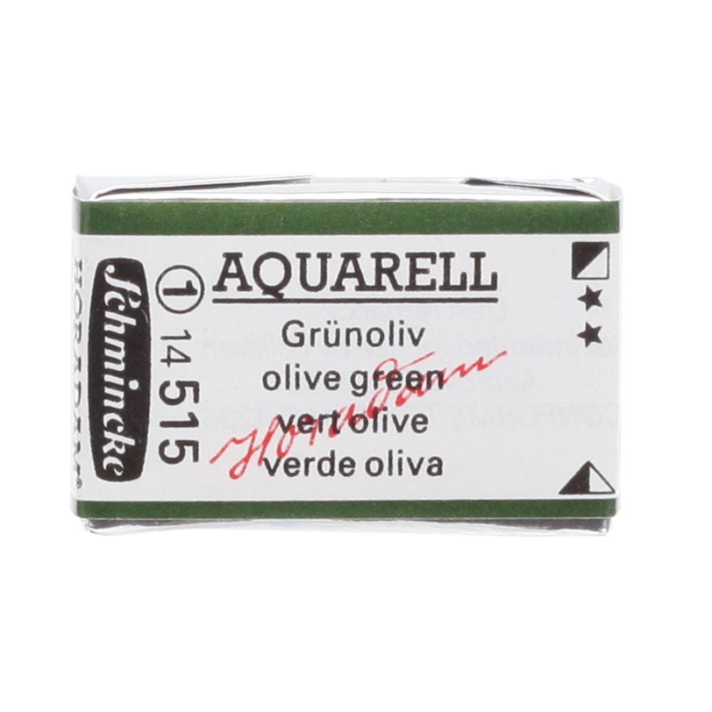 Schmincke H Aquarell 1/1 tab Olive Green 515 suluboya, Suluboya, Schmincke, kanvas tablo, canvas print sales