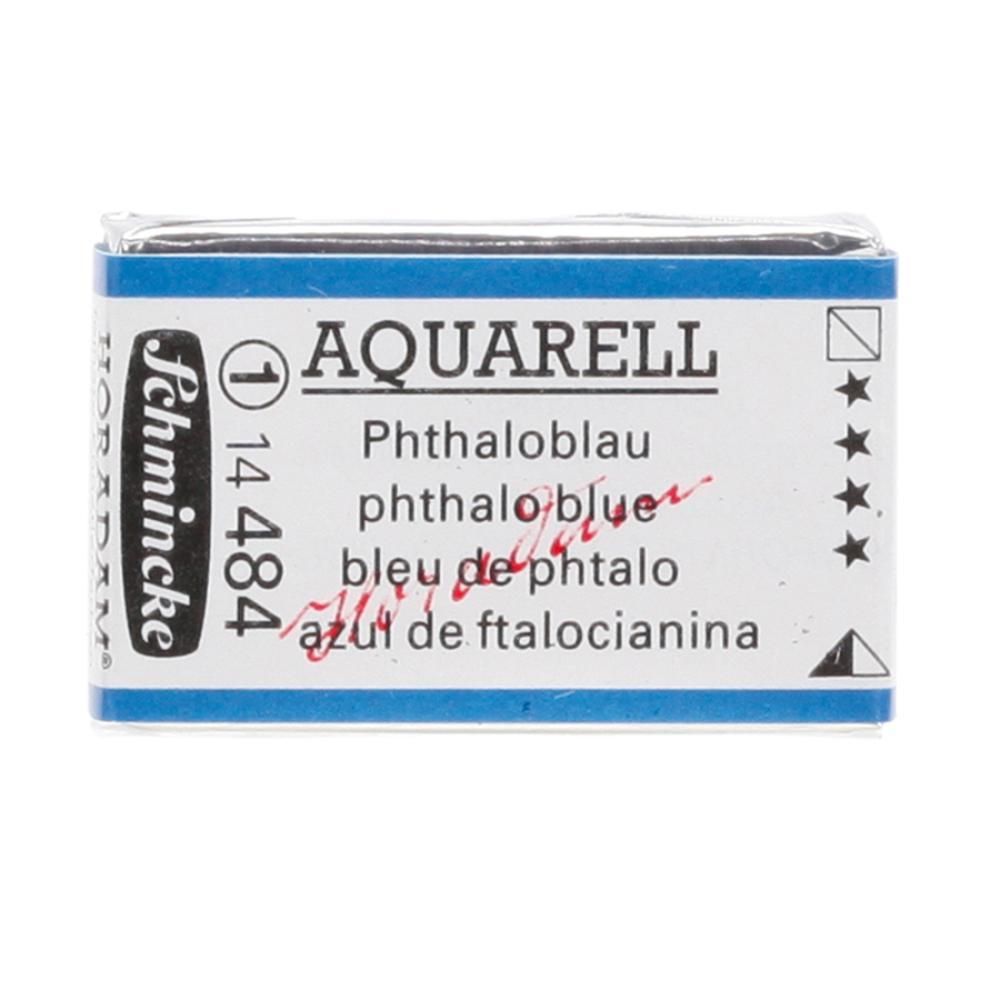 Schmincke H Aquarell 1/1 tab Phthalo Blue 484 suluboya, Suluboya, Schmincke, kanvas tablo, canvas print sales