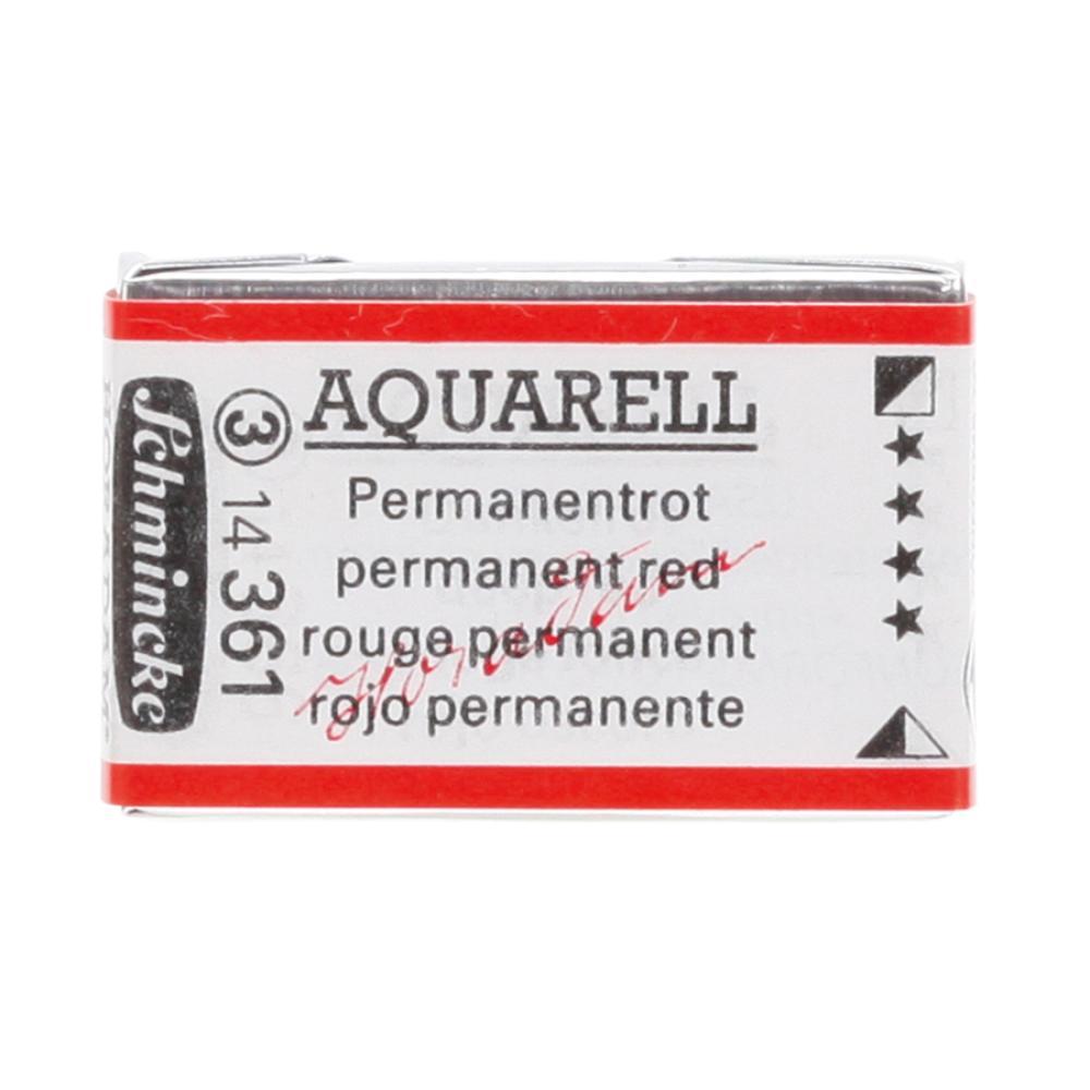 Schmincke H Aquarell 1/1 tab Permanent Red 361 suluboya, Suluboya, Schmincke, kanvas tablo, canvas print sales