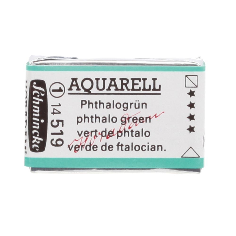 Schmincke H Aquarell 1/1 tab Phthalo Green 519 Suluboya, Suluboya, Schmincke, kanvas tablo, canvas print sales