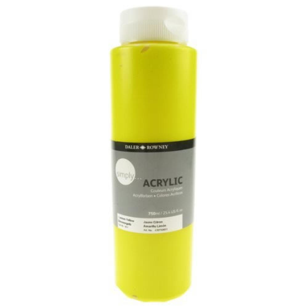 Daler Rowney Simply Akrilik Boya 750 ml Lemon Yellow, Akrilik Boya, Marka: Daler Rowney, kanvas tablo, canvas print sales