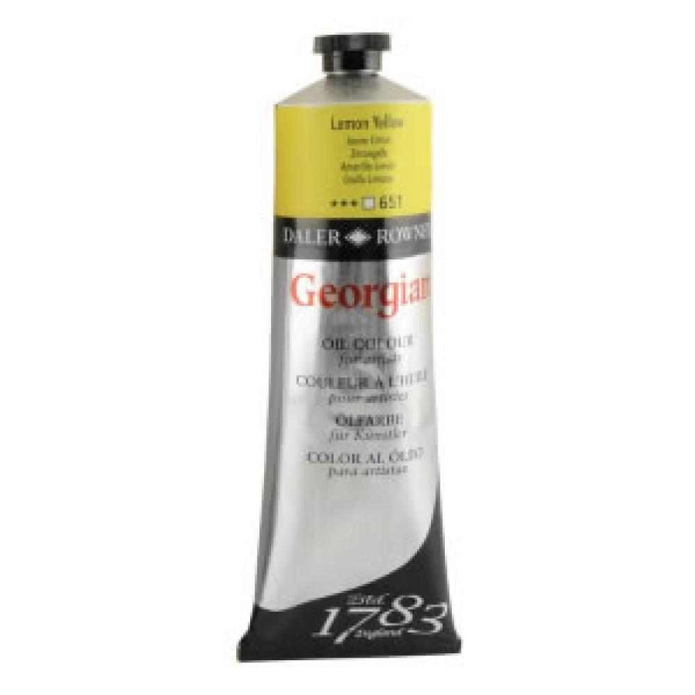 Daler Rowney Georgian oil paint 225 ml 651 Lemon Yellow, Oil Paint, Marka: Daler Rowney, kanvas tablo, canvas print sales