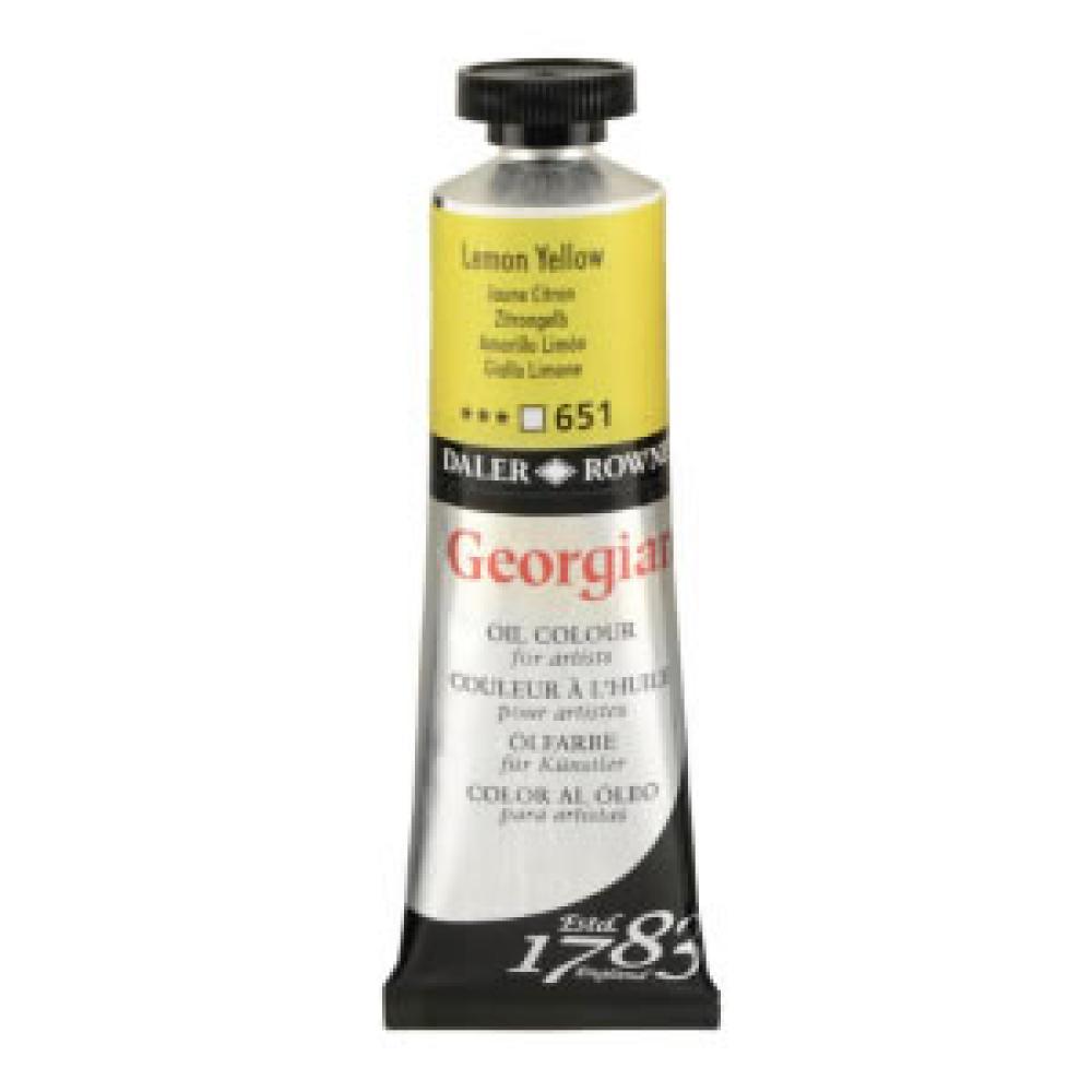 Daler Rowney Georgian Oil Paint 38 ml 651 Lemon Yellow, Oil Paint, Marka: Daler Rowney, kanvas tablo, canvas print sales