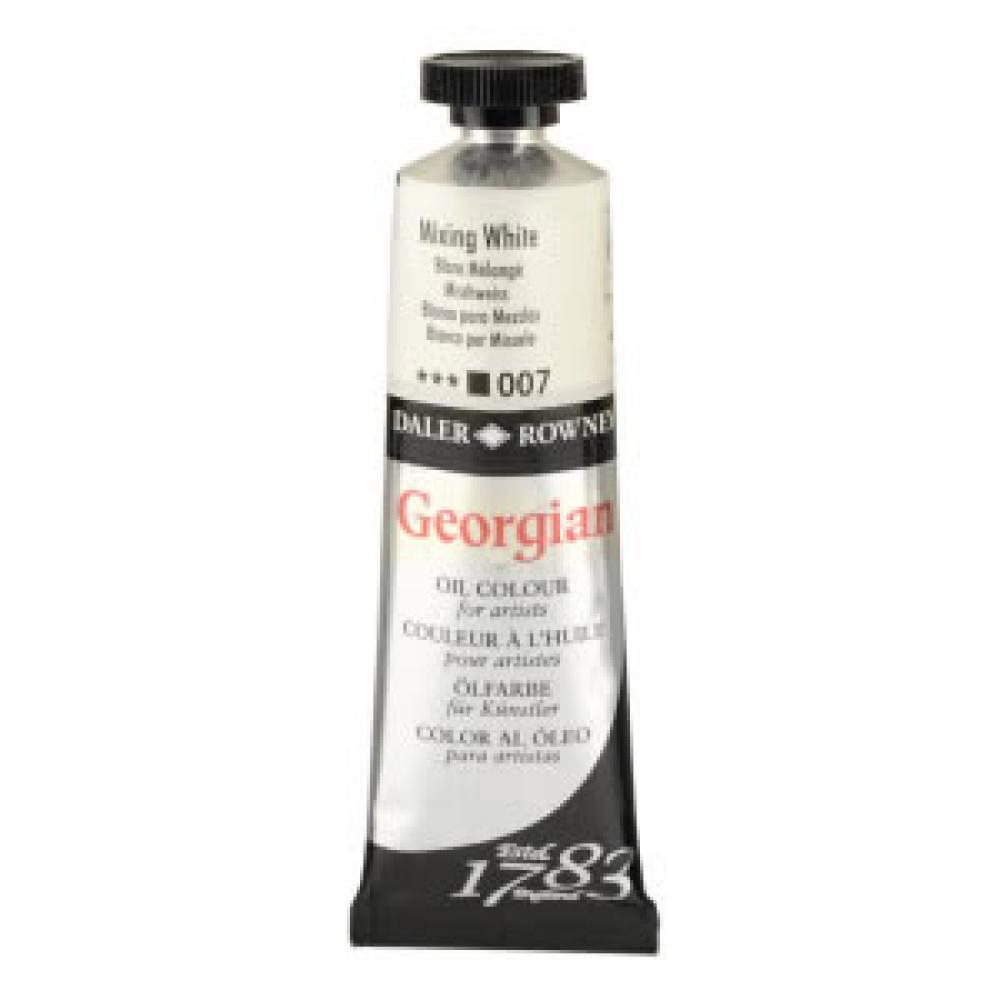 Daler Rowney Georgian Oil Paint 007 Mixing White 38 ml, Oil Paint,