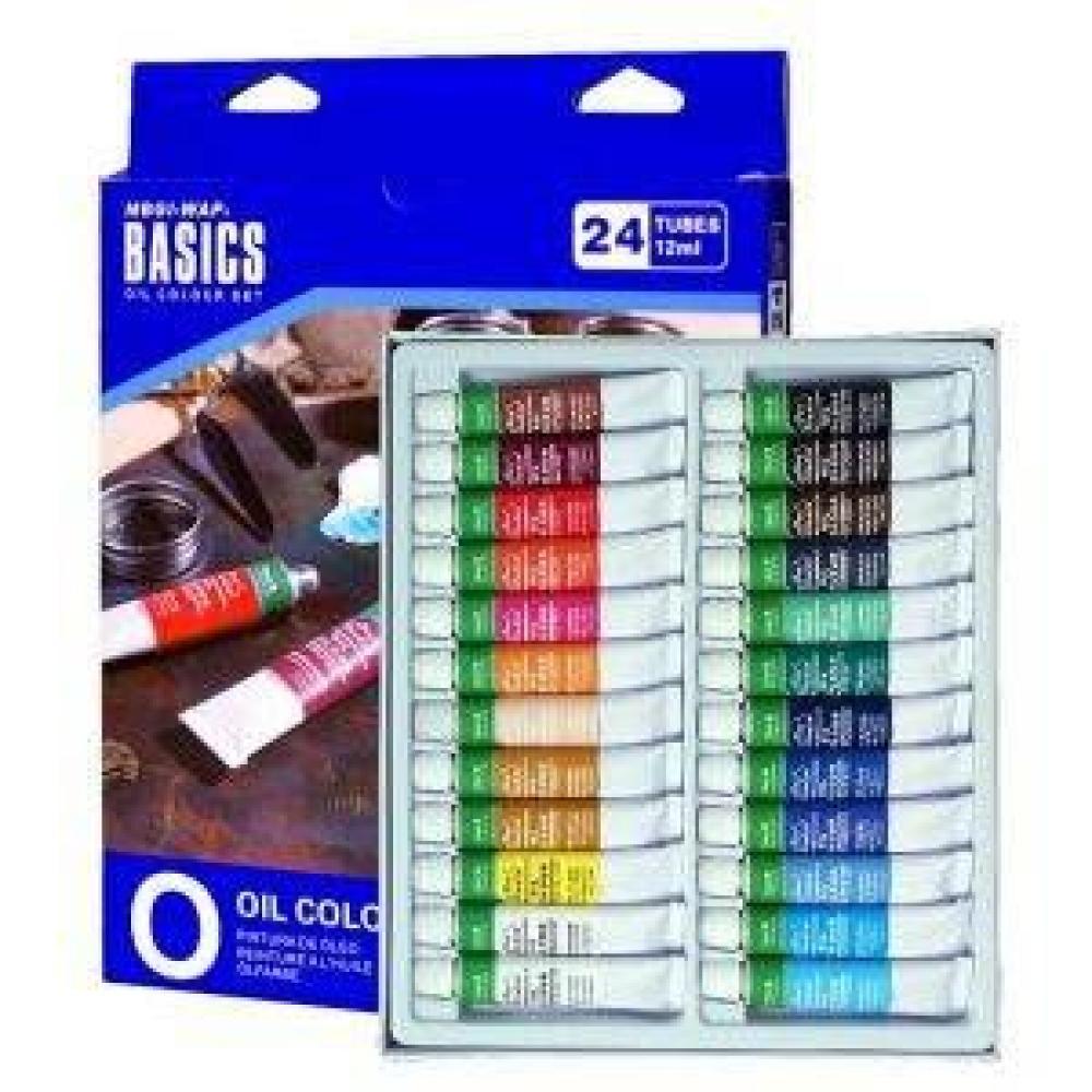 Magi-Wap Basics Oil Paint set 24 color x 12 ml, Oil Paint, , kanvas tablo, canvas print sales