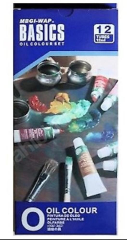 Magi-Wap Basics Oil Paint set 12 color x 12 ml, Oil Paint, , kanvas tablo, canvas print sales