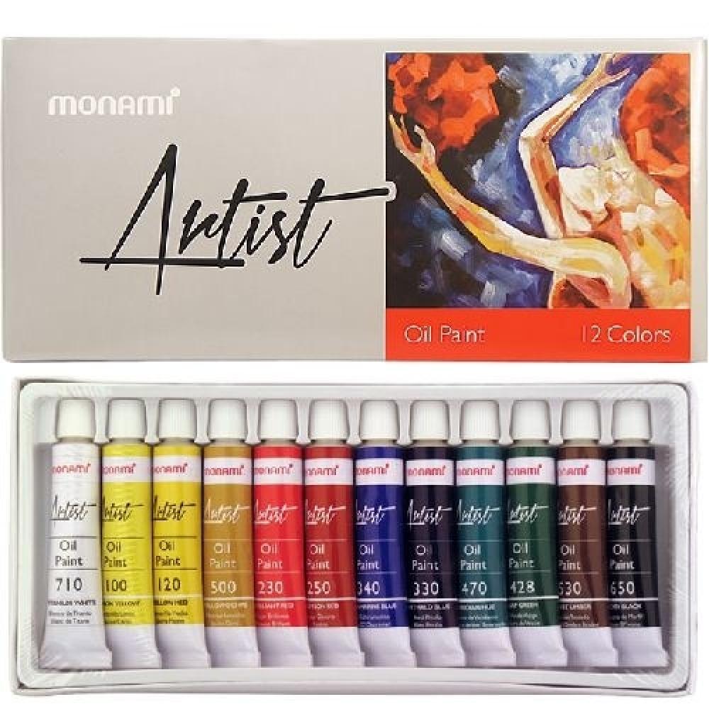 Monami Artist Oil Painting 12 Colors, Oil Paint, , kanvas tablo, canvas print sales
